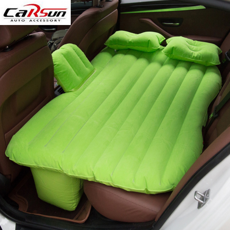 Car Travel Inflatable Mattress Car Inflatable Bed SUV Back Seat Extended Mattress with Repair Pad Glue Kits Air Pump For Travel durable thicken pvc car travel inflatable bed automotive air mattress camping mat with air pump