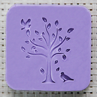 Nicole Acrylic Soap Seal Stamp Tree Pattern For Natural Handmade Mold Chapter