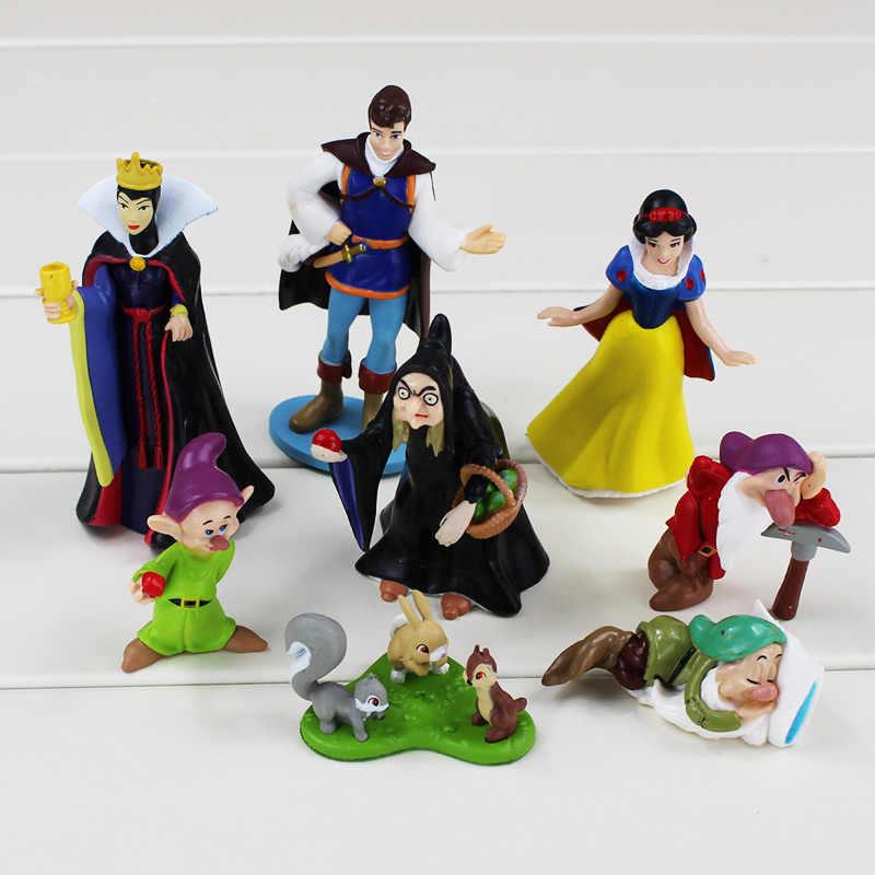 8 cái/bộ Công Chúa Tuyết Trắng Và Bảy Chú Lùn Các Nữ Hoàng Hoàng Tử PVC Hình Đồ Chơi Phương Tây Câu Chuyện Đồ Chơi Mô Hình