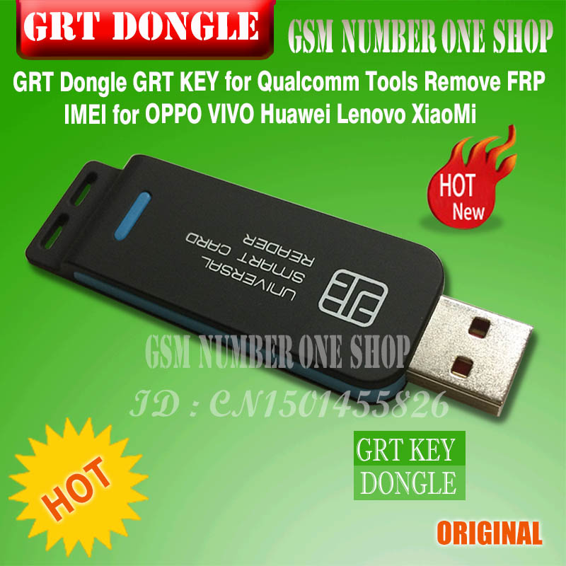 US $75 0 |GRT Dongle GRT KEY for Qualcomm Tools Remove FRP IMEI for OPPO  VIVO Huawei Lenovo XiaoMi-in Telecom Parts from Cellphones &
