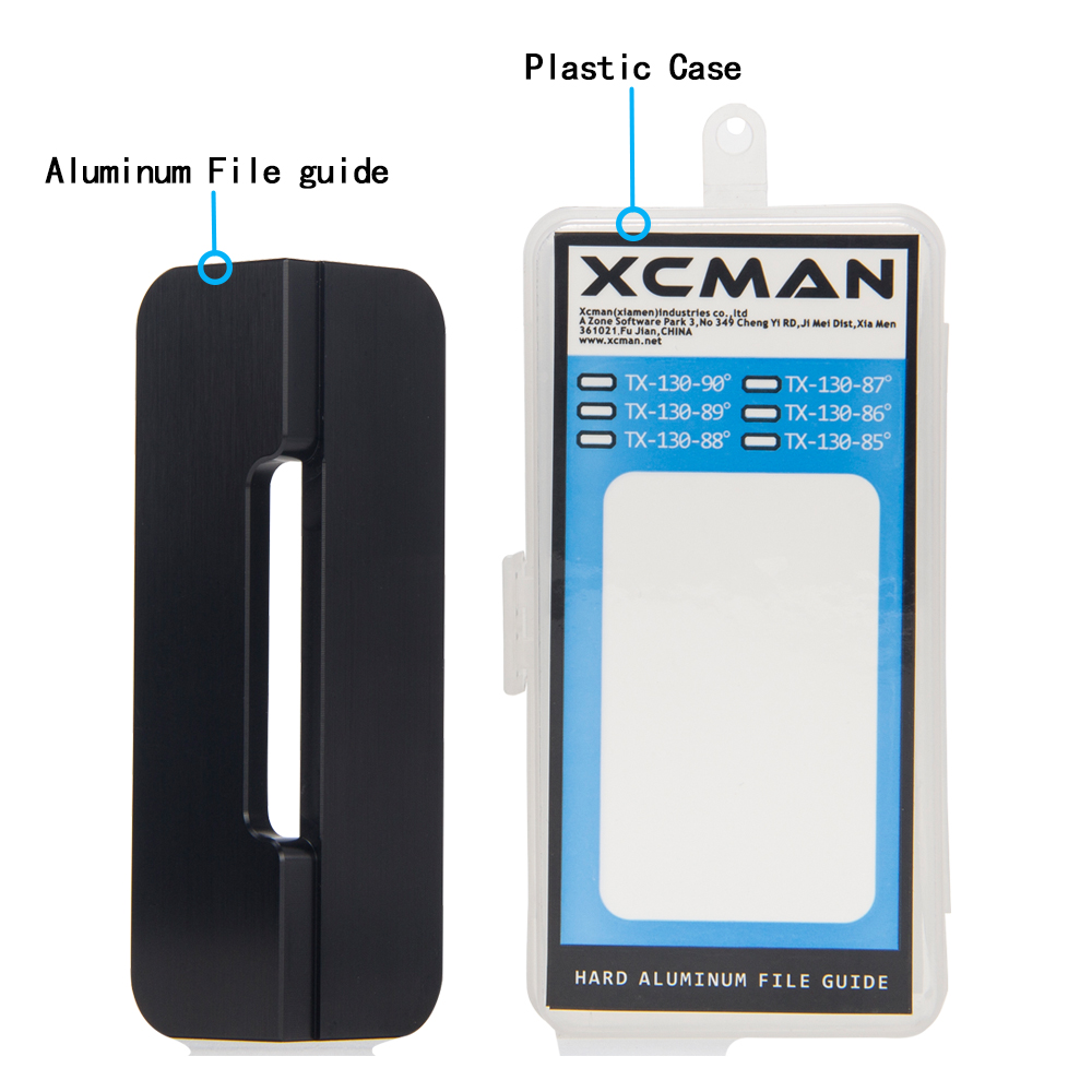 XCMAN Alpine Snowboard Hard Aluminium Racing Side Bevel Angle File Guide CNC laget