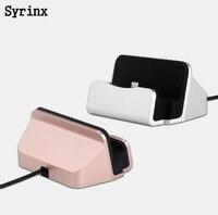 Estación Base de carga SYRINX para iPhone 7 6X8, Cable USB sincronizado, Base de carga para Android tipo C, soporte de soporte para Samsung