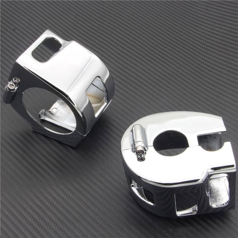 RPMMOTOR CHROME BILLET SWITCH HOUSING COVERS for Yamaha Road Star 1600 Road Star 1700 Road Star Warrior