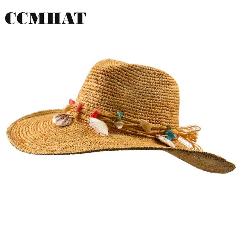 Compra Rafia sombrero del ganchillo online al por mayor de