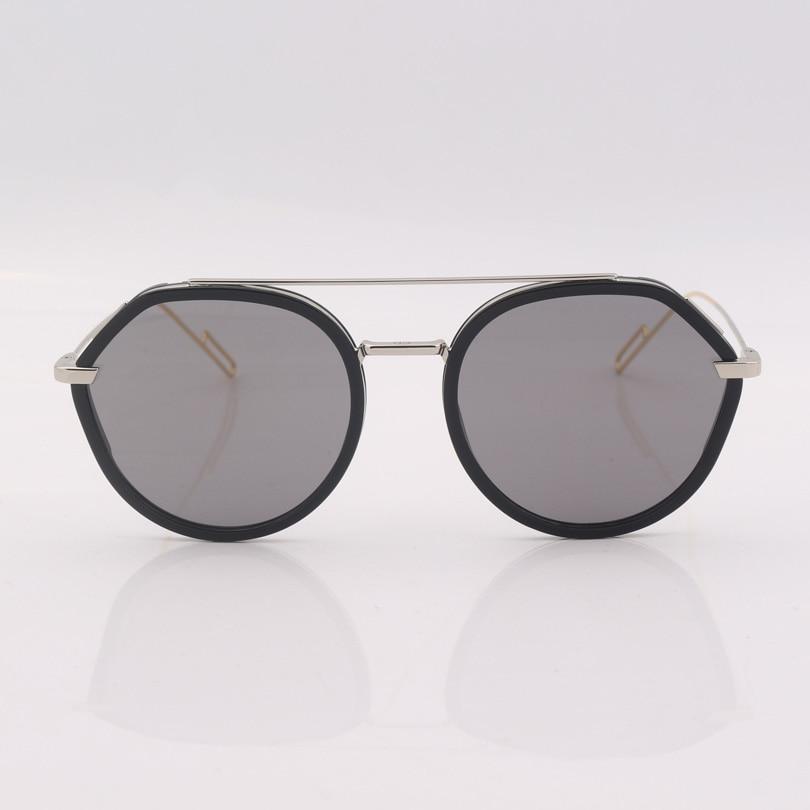 High quality grey lens Sunglasses women vintage fashion driving eyewear double bridge frame