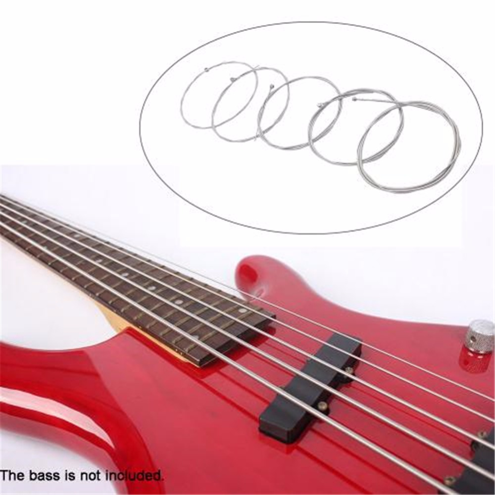5pcs bass strings nickel rust protection durable strings for 5 string electric bass guitar. Black Bedroom Furniture Sets. Home Design Ideas