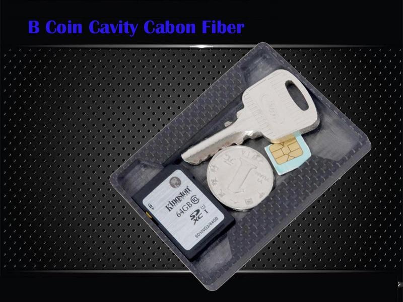 Card & Id Halter Gepäck & Taschen A-04 Carbon Faser Schlüssel Münze Sim Karte Tasche Hohlraum Brieftasche