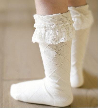 28574c934e4d 2018 Baby Girl Knee High Lace Socks Kids Long Sock Uniform Dress Socks  Ruffle Princess Boots Sox Meias Sokken Drop Shipping 2-5y