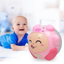 Электрический барабанный мяч, детские игрушки для младенцев, многофункциональный инновационный светильник, забавные животные, рок-Роллинг, кукла, игровой набор