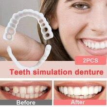 Smile Denture Cover Fit Fle Teeth Comfortable Fake Veneer Whitening Snap On Tooth