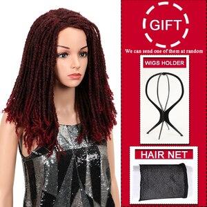 Image 3 - MAGIC Hair 22 Inch Synthetische pruiken Dreadlocks Vlecht Haar Synthetische Dreads Vlechten pruiken Extension Bruin Vlechten Faux Locs Haar