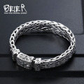 Beier Thailand import  silver sterling Hand knitting classic bracelet for men High-end design Fine Jewelry  J925SL044  A