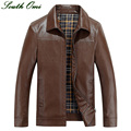Coat Jacket Men Leather Jacket For Spring And Autumn Zipper Long Sleeve Cool Leather Jacket For Men Wind Coat Men Fall Clothes