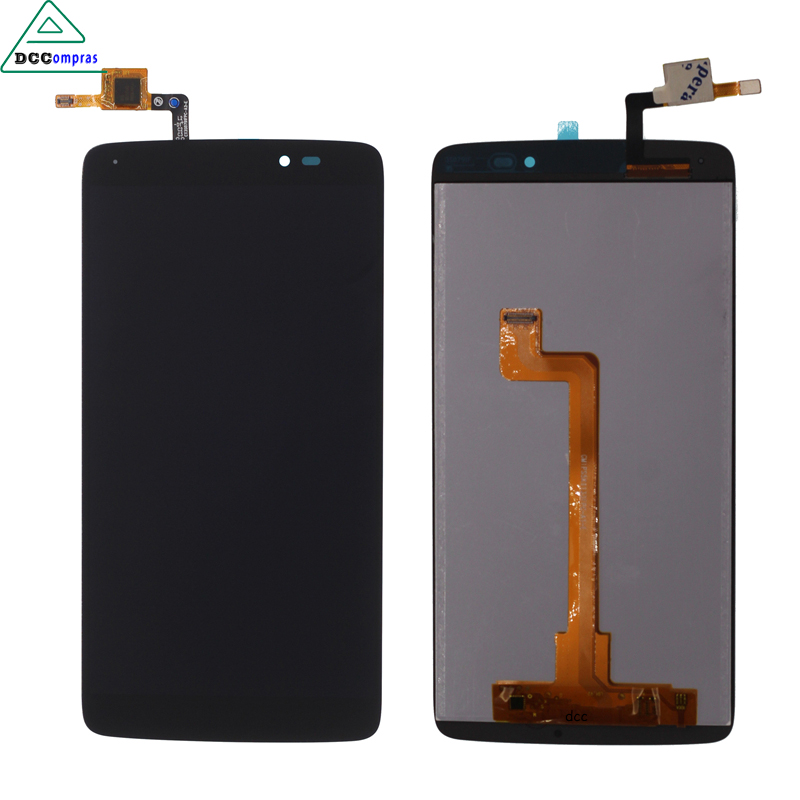 LCD <font><b>Display</b></font> Touch Screen Digitizer Assembly For <font><b>ALCATEL</b></font> OT6045 6045 <font><b>6045Y</b></font> 6045F idol 3 Black High Quality Mobile Phone LCDs image