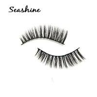 Cheap new 100% real mink fur eyelashes False Eyelashes Cross Makeup Beauty Fake Eyelashes Fake Eye Lashes Extension Tools