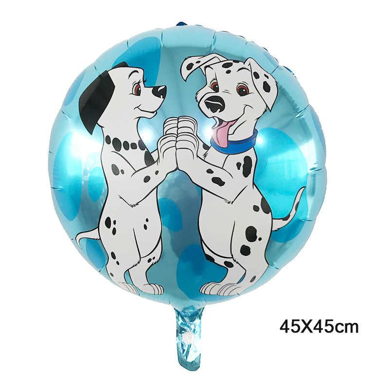 1 PC 18 インチむら犬ラウンドバルーンアルミ箔ヘリウム風船誕生日パーティーの装飾用品グロボス