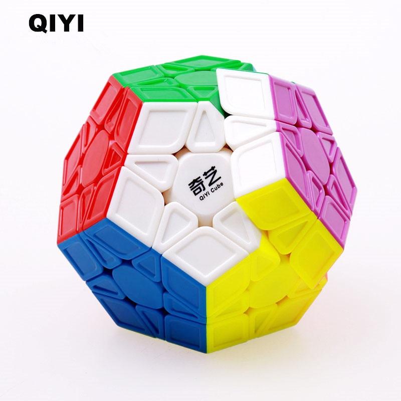 QIYI Megaminxeds Cubo XMD 12 lados profesional magia de velocidad cubos Stickerless rompecabezas Cubo mágico juguetes educativos para los niños