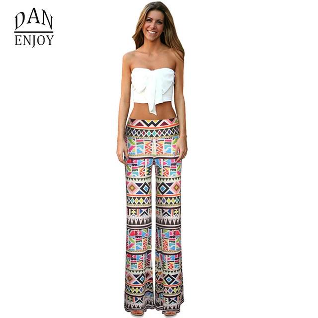 696896e180921 DANENJOY Fashion Indian Style Print Yoga Pants Women Sport Elastic High  Waist Loose Trousers Big Size