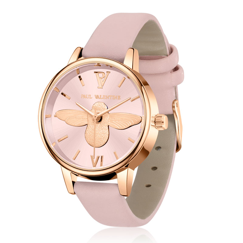 Paul Valentine Brand Luxury High Quality Quartz Leather Wrist Bracelet Fashion Women Watch Ladies Wrist Watch 3d Little bee подвесной светильник feron 6205 11071