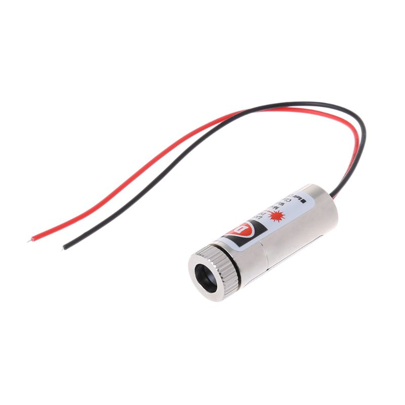 Hot 650nm 5mW Red Point Laser Module Head Glass Lens Focusable Industrial Class Laser Head Woodworking Machinery Parts