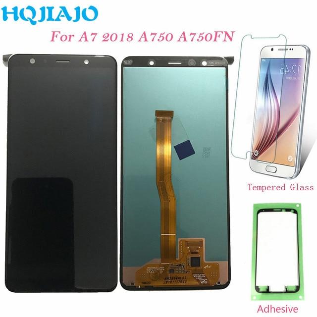 ЖК дисплей 6,0 для Samsung A750, сенсорный экран с дигитайзером для Samsung Galaxy A7 2018 A750 A750F SM A750F A750FN, оригинал