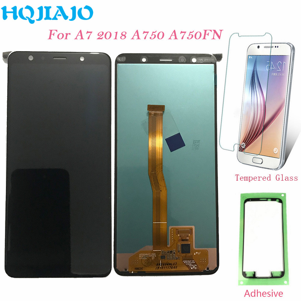6.0'' Test For Samsung A750 LCD Display Touch Screen Digitizer For Samsung Galaxy A7 2018 A750 A750F SM A750F A750FN Original-in Mobile Phone LCD Screens from Cellphones & Telecommunications