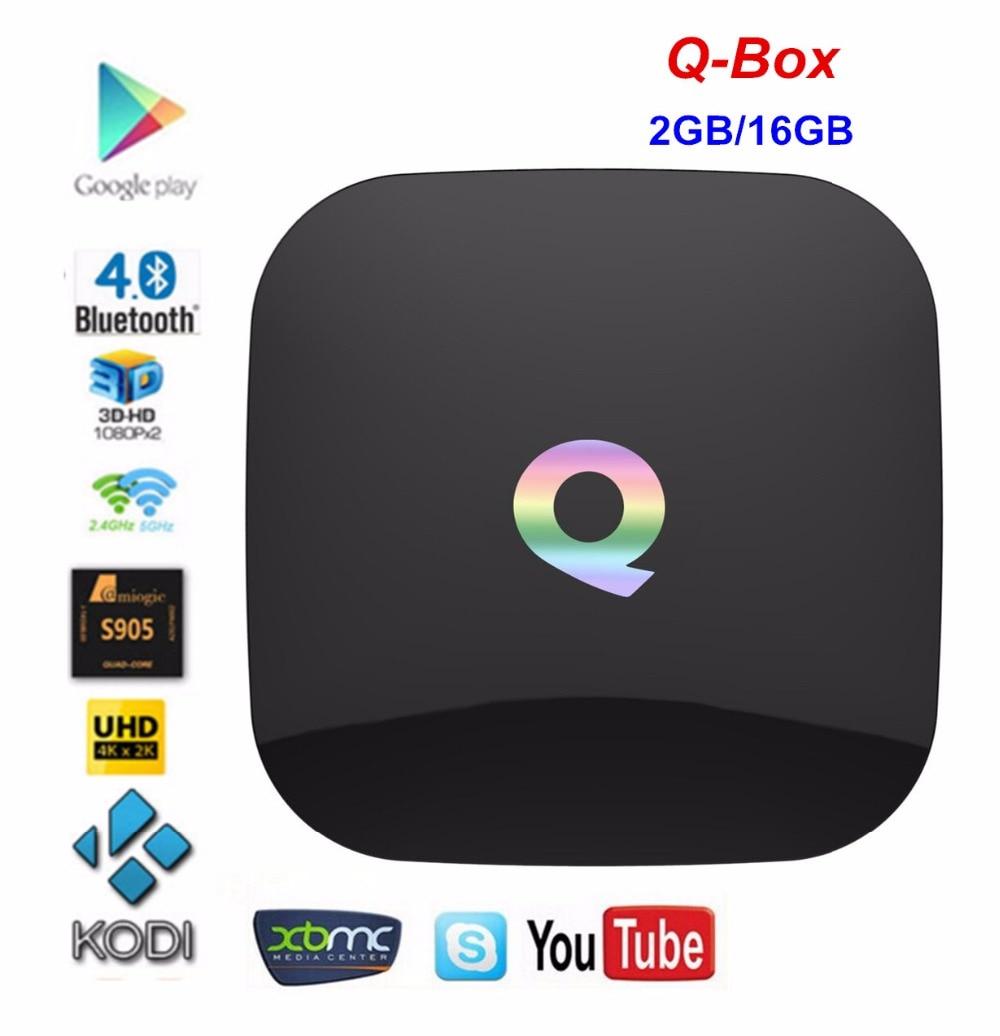 ФОТО Q-BOX 4K KODI Preinstalled Amlogic S905 TV Box Android 5.1 2G/16G 2.4G+5G Dual Band WIFI 1000M LAN Bluetooth 4.0