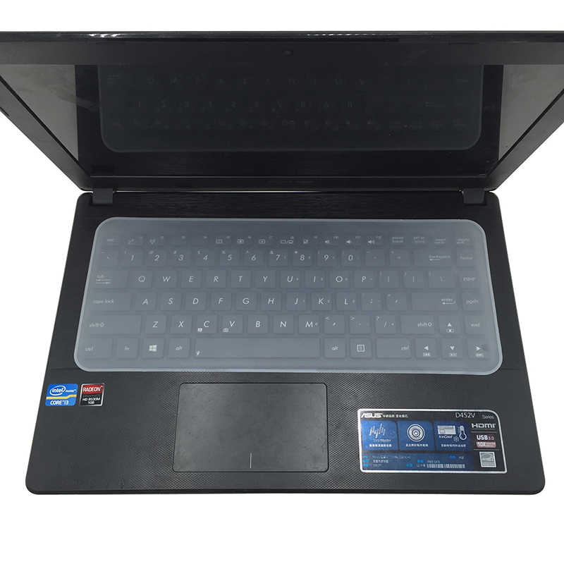 "1PC Clear Protector Cover Universal Laptop Keyboard Silikon Kulit untuk 13 ""14"" 15 ""17"""