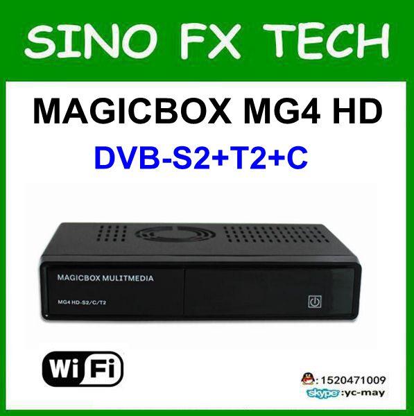 Original Magicbox MG4 HD Tuner DVB-S2 DVB-C and DVB-T2 sat receiver magic box mg4 more powerful [genuine] freesat v8 golden dvb s2 t2 c satellite tv combo receiver support powervu biss key cccamd newcamd n usb wifi optional
