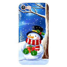 Happy New Year Merry Christmas Snowman Santa Claus Phone Case iPhone 6 6s Plus 7 8 Plus X