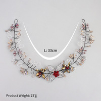 Creative Korean hair band headband crystal rice beads handcrafted bride hair band hair accessories