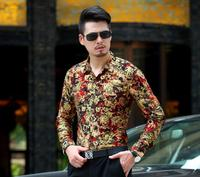 Spring thin men's short sleeved shirt middle aged casual shirts men's mercerized cotton long sleeved big size