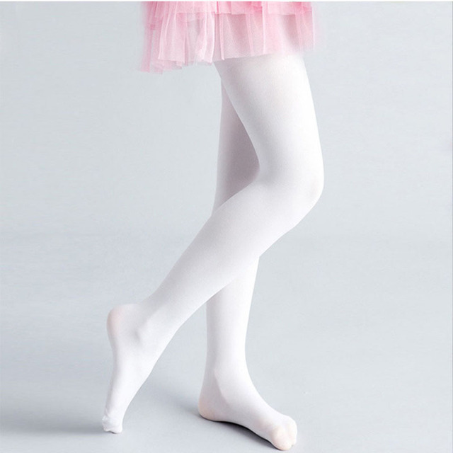 a296781bbdc 2018 New Fashion Kids Girls Ballet Warm Soft Thick Fleece White Leggings  Lined Trousers Pantyhose For Dance