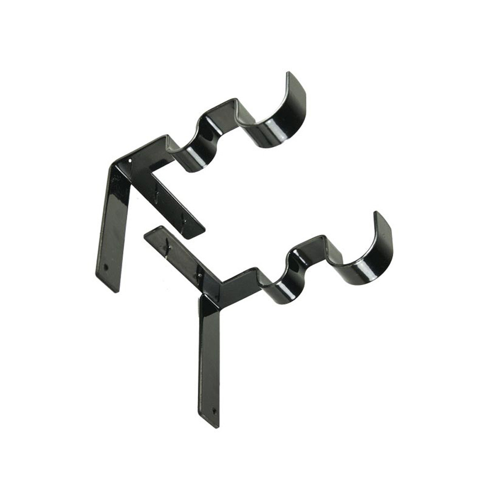 1 пара Висячие двойные душевые занавески стержни для полотенец Крючки Зажимы для штор s организованный стеллаж для хранения перила держатель# K42 - Цвет: A