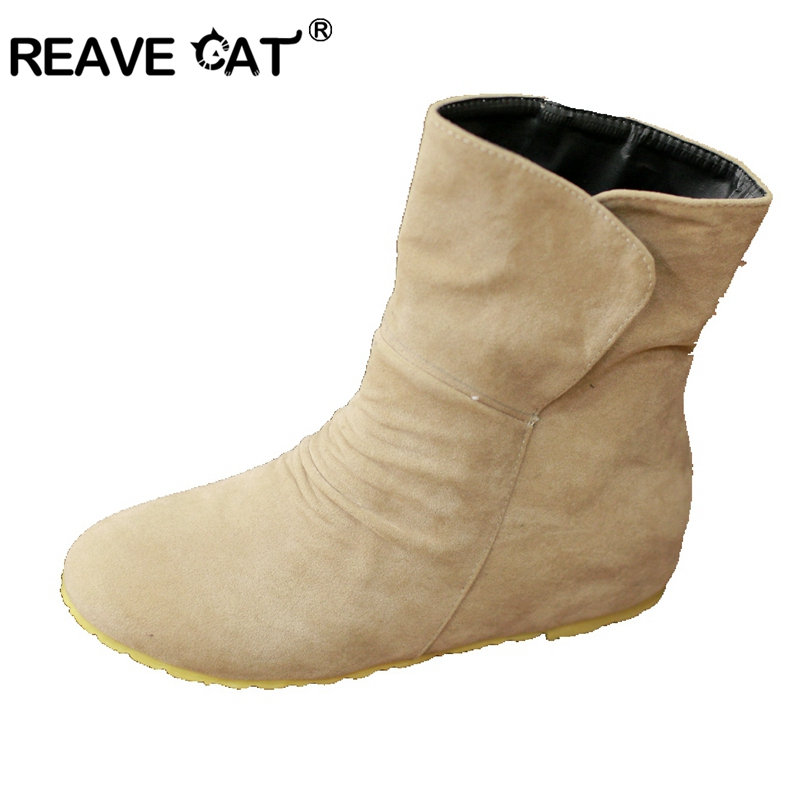 reave cat autumn boots fashion womens ankle boots flat