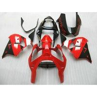 ABS plastic factory fairing for Kawasaki red black ZX 9R 02 03 motorcycle body repair racing Fairings kits Ninja ZX9R 2002 2003