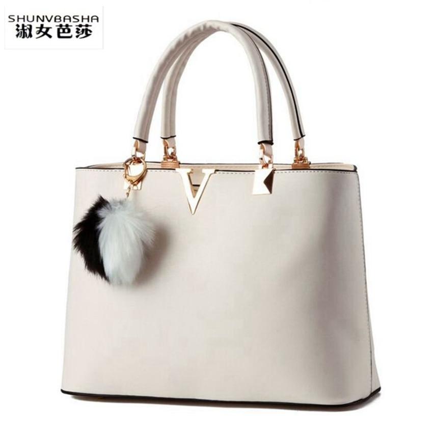 SHUNVBASHA Women Bag V Leather Messenger Bags Woman Handbag Female Evening Top-h