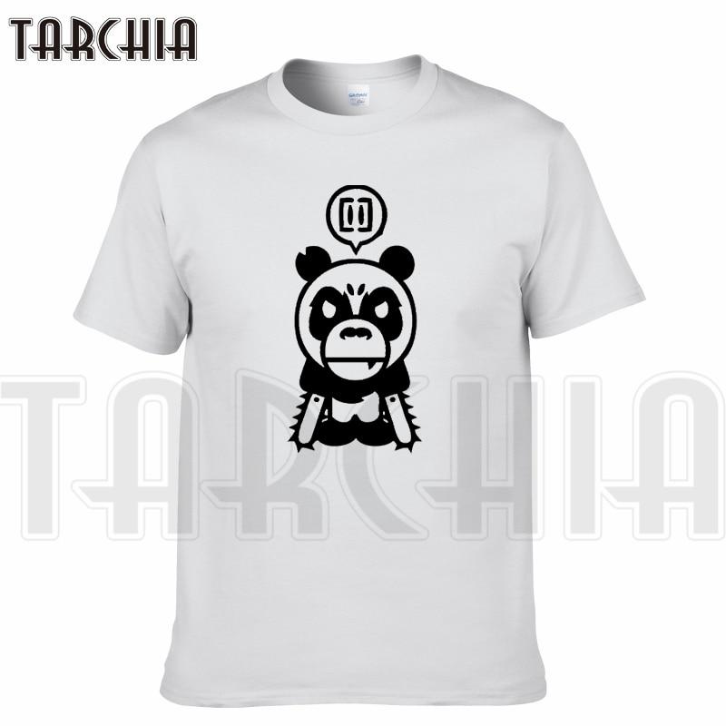 TARCHIA 2018 New Brand t-shirt cool funny panda cotton tops tees men short sleeve boy casual homme tshirt t plus fashion