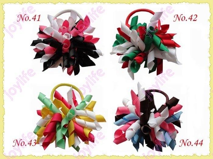 20 шт 3 ''Мода коркер резинка для волос смешанные цвета девушка коркер держатель