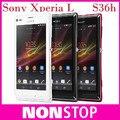 S36 Original samrtphone Sony Xperia L S36h C2105 C2104 8MP WIFI GPS 3 G Jelly Bean android 4.1 abrió el teléfono móvil