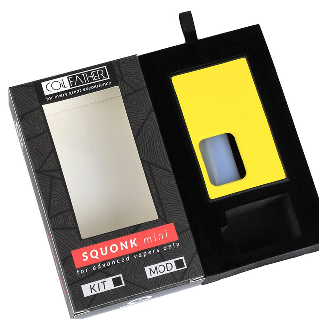 Coil Father Squonk Mini Box Mod Good Quality 8ml 510 Thread Bottom Feeder Easy To Carry For Electronic Cigarette Tank