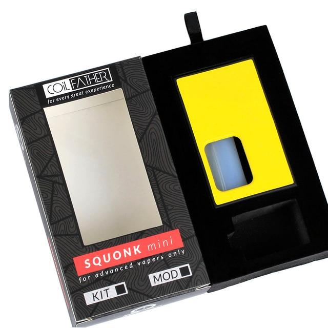 ขดลวดพ่อ Squonk Mini Box Mod คุณภาพดี 8 ml 510 ด้ายด้านล่าง Feeder พกพาสำหรับอิเล็กทรอนิกส์ถัง