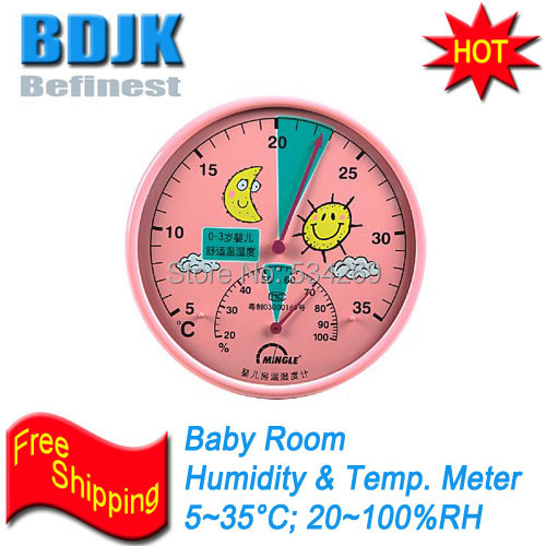 Room Hygrometer &Thermometer with Cartoon Picture for Baby & Kids