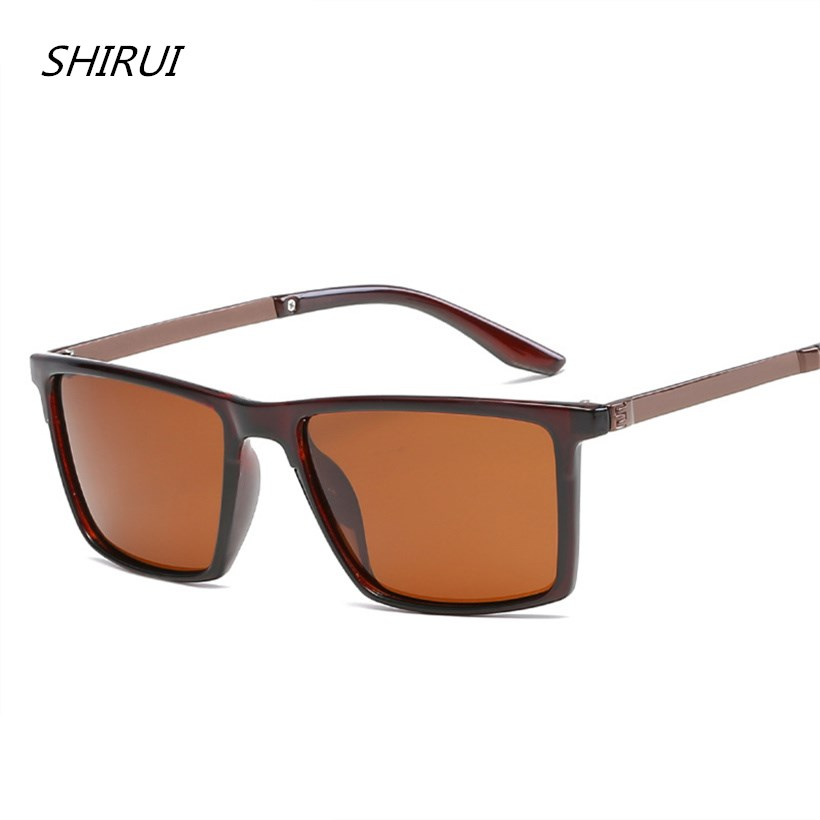 Polarized Sunglasses Men Vintage Alloy Sun glasses Male Driving Safety Protect Eyeglasses HD Goggles rayed Top Quality UV400 Hot