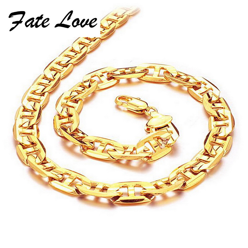 Aliexpress.com : Buy Fate Love New Collection Men Chain Gold Color ...