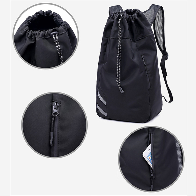 2018 Portable Sports backpack Tablet Laptop bag Waterproof drawstring  basketball cycling Backpack Men s Casual Sports Back d61e99870f163
