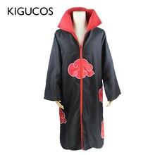 KIGUCOSขนาดใหญ่Anime Naruto Cosplayเครื่องแต่งกายสำหรับผู้ชายผู้หญิงชุดUchiha Itachiเสื้อคลุมAkatsukiชุดพรรคCapeชุด