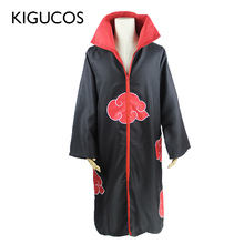 KIGUCOS גדול גודל אנימה נארוטו Cosplay תלבושות לגברים נשים אחיד Uchiha Itachi גלימת Akatsuki גלימת מסיבת תחפושות תלבושת