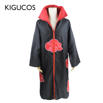 KIGUCOS Large Size Anime Naruto Cosplay Costumes for Men Women Uniform Uchiha Itachi Cloak Akatsuki Party Cape Outfit - discount item  28% OFF Costumes & Accessories