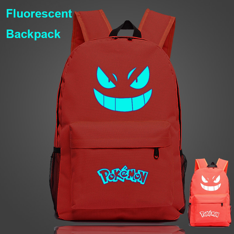 Fluorescent Luminous Monster Pikachu Pokemon Boy School bag Women Bagpack Teenagers Schoolbags Men Children Student Backpacks 9 image